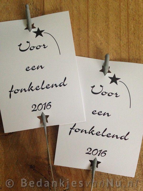 Voor een fonkelend nieuwjaar met deze leuke sterretjes via www.BedankjesvanNu.nl
