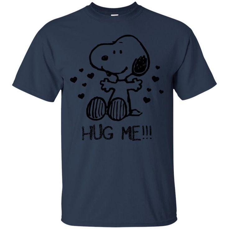 Peanuts Snoopy Shirts Valentines Day Hug Me T-shirts Hoodies Sweatshirts