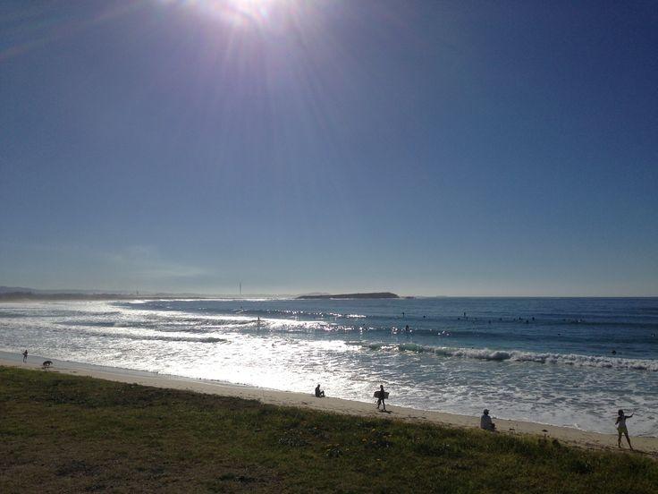 2013. Warilla Beach looking towards Windang Island