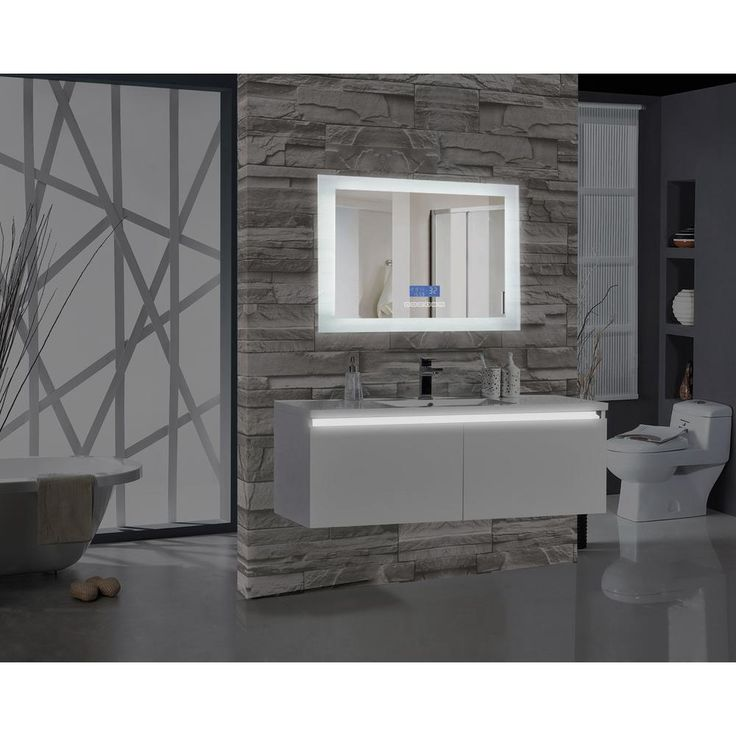 Photo Gallery Website MTD Vanities Encore BLU in W x in H Rectangular LED Illuminated