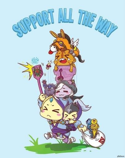 Supports be like..