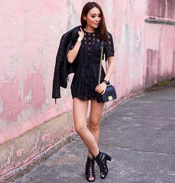 Fashion blogger @thetiafox looking chic in the Walk On By Playsuit by @alicemccallptyltd available online now!   http://www.oxygenboutique.com/Walk-On-By-Playsuit.aspx  #alicemccall #outfit