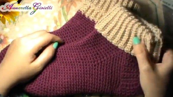 come fare calzettoni in lana a uncinetto Spiegazioni in italiano