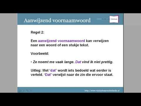 Grammatica woordsoorten: aanwijzend- en vragend voornaamwoord