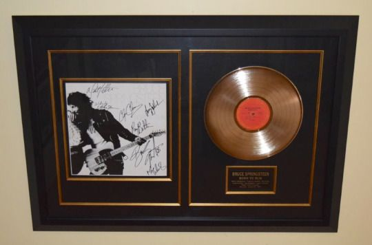 ROCK STAR gallery This is must for any collection.  The Boss hand signed! http://www.rockstargallery.net/bruce-springsteen-born-to-run-2 #bruceSpringsteen #Estreetband