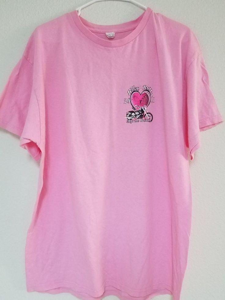 2011 Myrtle Beach Bike Rally Pink XL Heart Tshirt | Ships Free #Delta #GraphicTee