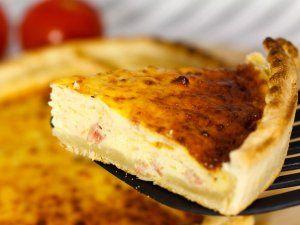 Quiche de jamón y queso para niños. Recetas fáciles