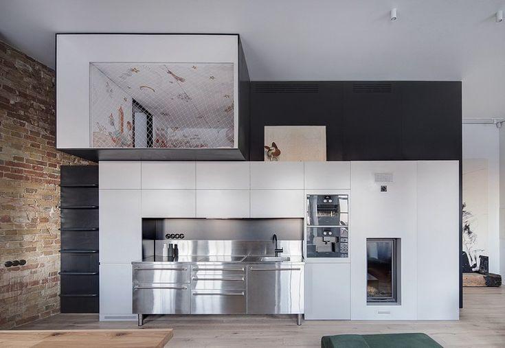 BJ apartment, modern home located in Kiev, Ukraine. Kitchen & bedroom...