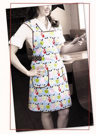 Cool apron tie detail from the book Sewing Vintage Aprons by Denise Clason