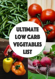 low carb vegetables list keto whole30 paleo