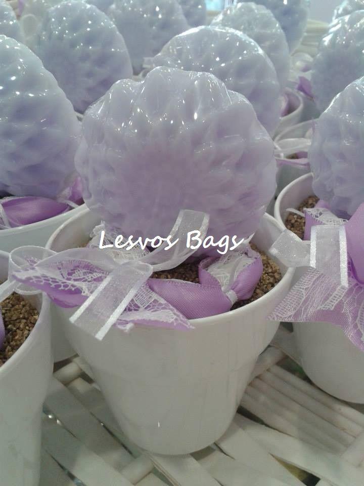 purple soap flowers