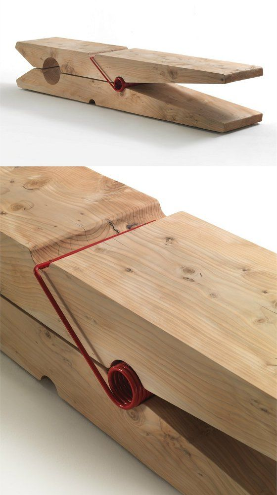 Solid #wood bench MOLLETTA by Riva 1920 | #design Baldessari e Baldessari @Riva Industria Mobili