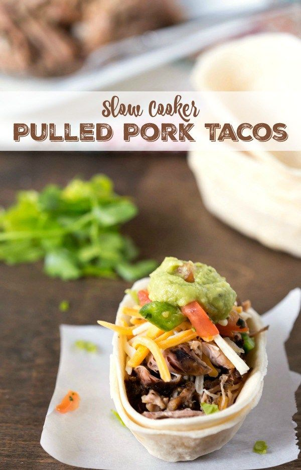 Slow cooking is the key to making these tender, juicy pulled pork tacos. Perfect game day or tailgate appetizer or dinner!