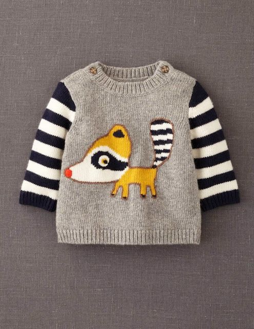 cute animal sweater - i like the symmetrical buttons
