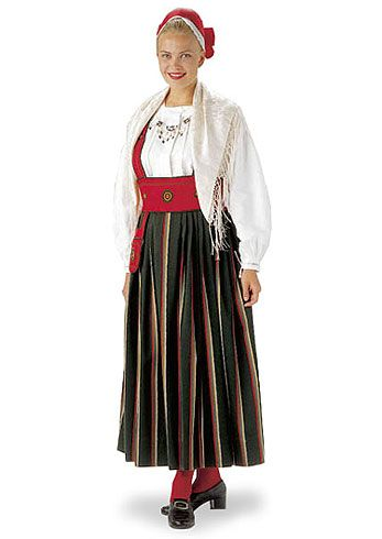 Finland. The Orimattila folk dress