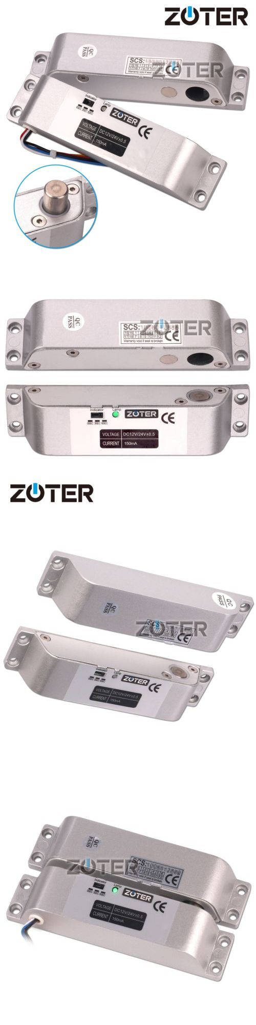 Other Home Automation: Zoter Electric Bolt Door Lock Surface Mounted Deadbolt Dc 12V Fail Safe Nc Mode -> BUY IT NOW ONLY: $35.49 on eBay!