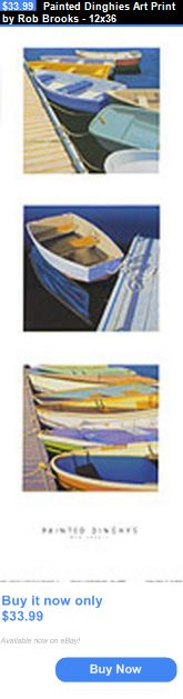 Arts And Crafts: Painted Dinghies Art Print By Rob Brooks - 12X36 BUY IT NOW ONLY: $33.99