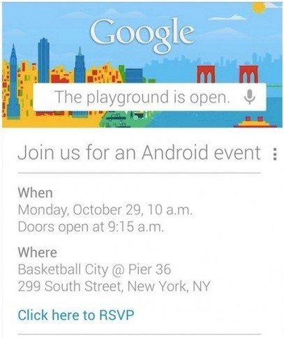 Google Invites Press to Android Event in New York Oct.29