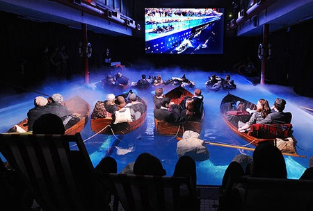 Swimming pool movie theatre i love the boats hahaha - Was the titanic filmed in a swimming pool ...