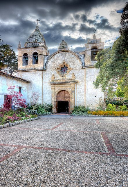 Mission San Carlos Borroméo del Río Carmelo, also known as the Carmel Mission, is a Roman Catholic mission church in Carmel, California.  It is on the National Register of Historic Places and is a U.S. National Historic Landmark.  by Axe.Man