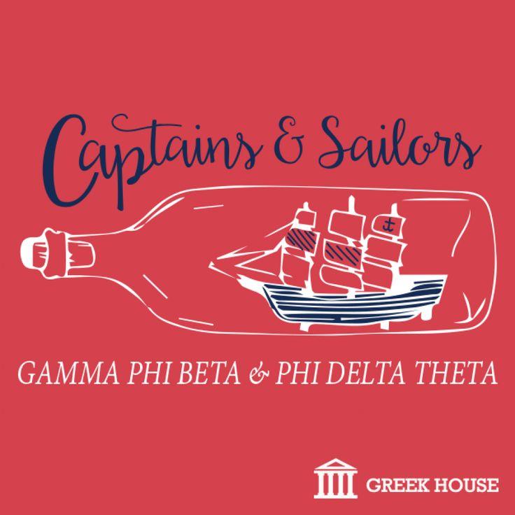 Captains & Sailors Mixer #fraternity #sorority #tshirt #frattank #greeklife #greekhouse #GPhi #gammaphibeta #phideltatheta