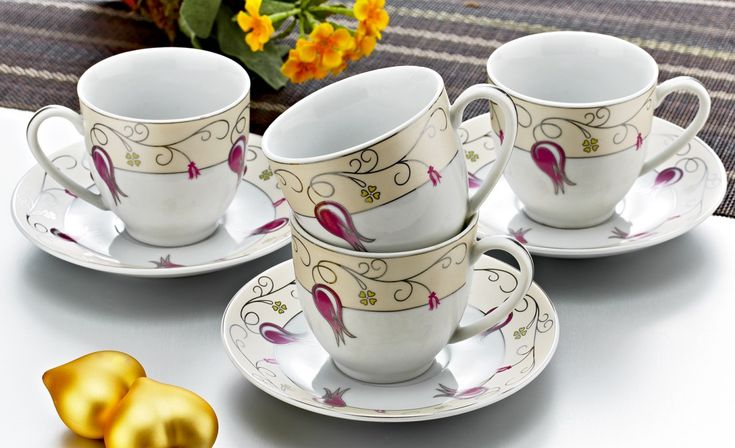 Zerden 12 Parça Çay Fincan Takımı 838