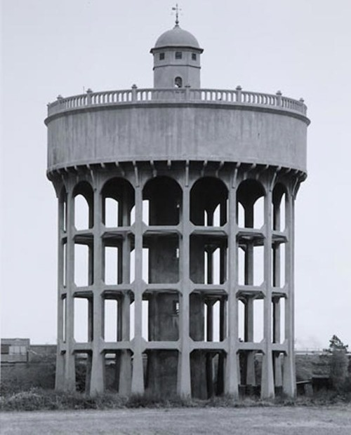 Bernd and Hilla Becher   Water Tower, Newton le Willows, United Kingdom, 1966.  Art Experience NYC  www.artexperiencenyc.com/social_login/?utm_source=pinterest_medium=pins_content=pinterest_pins_campaign=pinterest_initial