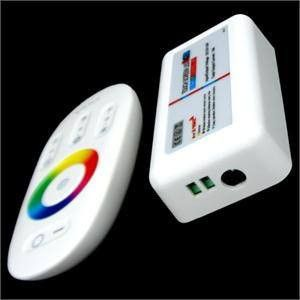 White Touch Screen RGB LED Controller LED Dimmer with Remote T037WIFI