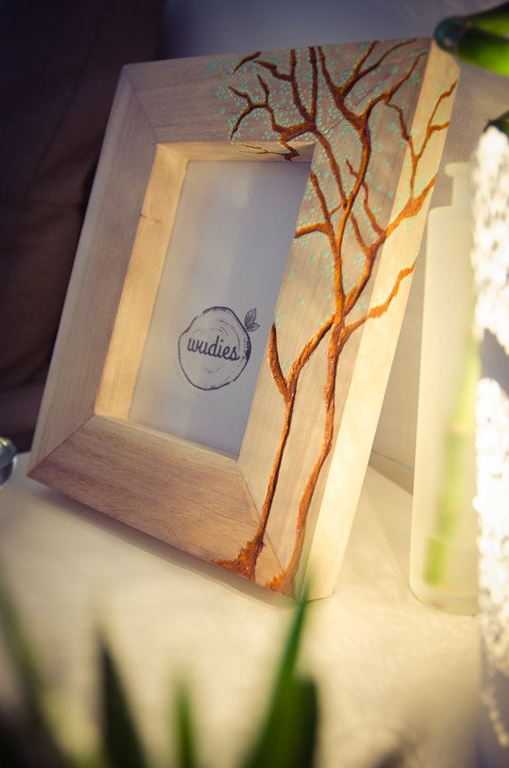 Dotty tree picture frame by Wudies on Etsy