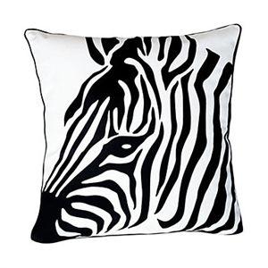Enveloppe de coussin / taie d'oreiller zébré noir et blanc
