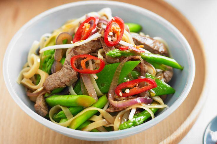 Teriyaki Beef Noodles Recipe - Taste.com.au