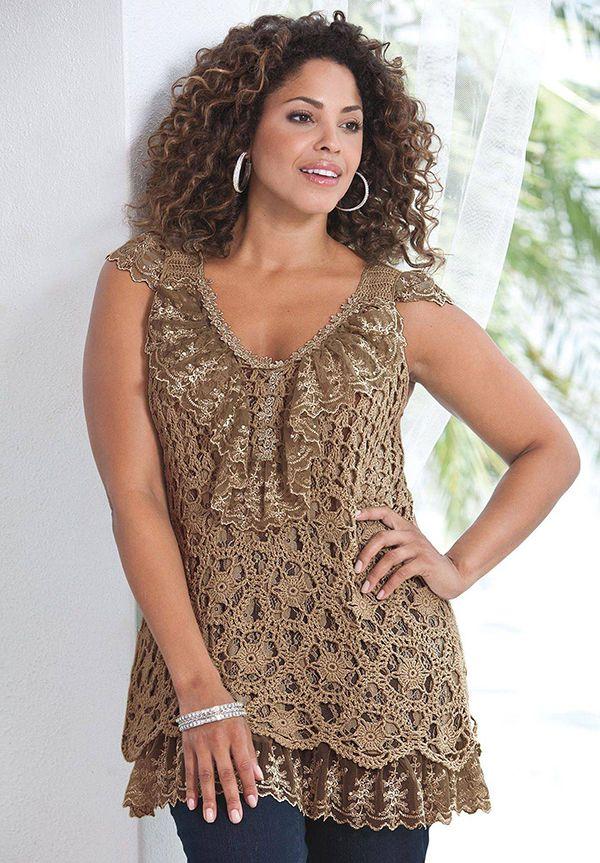 Plus Size Crochet Tunics