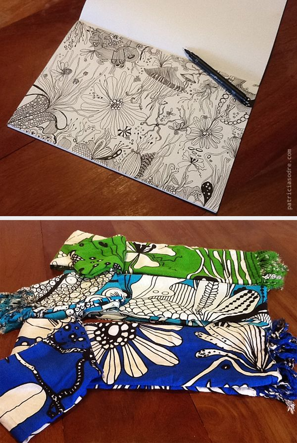 From Sketch to fabric by Patricia Sodré / Pattern - Estampa on Behance