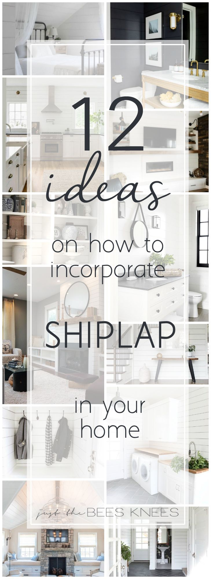 12 ideas on how to incorporate shiplap into your home! #shiplap