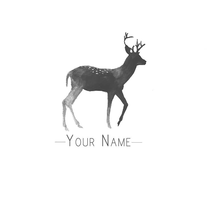 Premade Logo Design - Deer. $25.00, via Etsy.