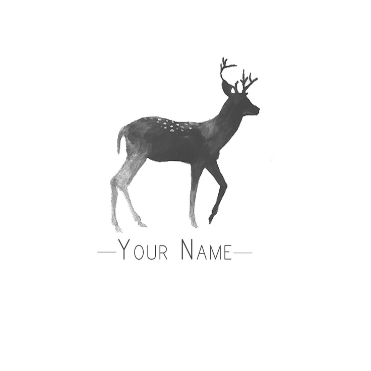 Premade Logo Design - Deer. $25.00, via Etsy.