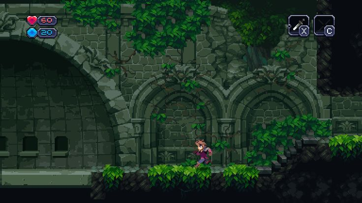 screen shot from Chasm // notes of comparison: similar colour palette