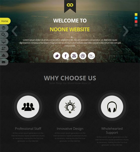 this single page joomla template offers a responsive layout 4 predefined color schemes bootstrap