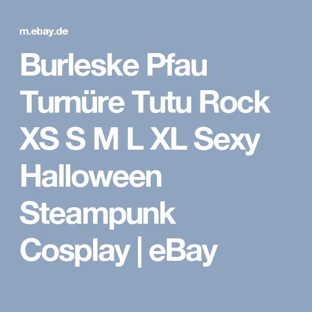 Burleske Pfau Turnüre Tutu Rock XS S M L XL Sexy Halloween Steampunk Cosplay | eBay