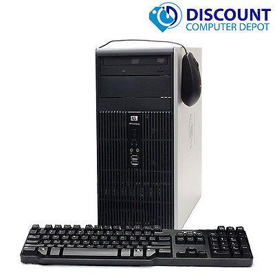 HP Windows 10 Pro Desktop Computer Tower PC Core2Duo 8GB 250GB DVD WiFi Key-Mice