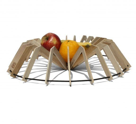 Scale Wooden Fruit Bowl