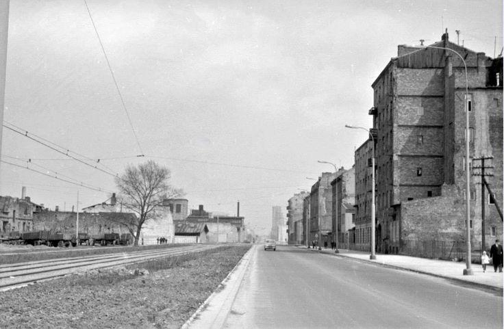 Warszawa, ulica Prosta (lata 60.)