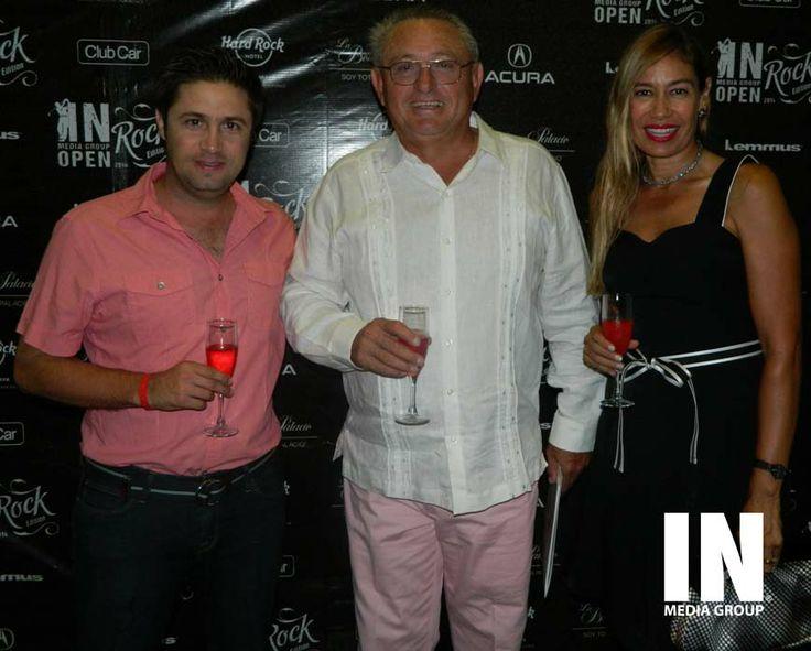 Juan Pablo Zahoul, Borge Casares y Dinorah Acosta de Casares.