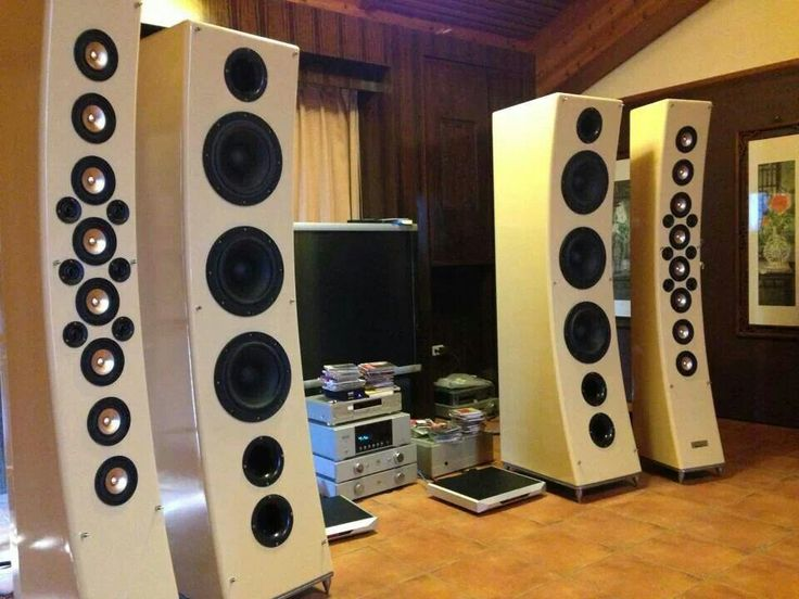 Line array speakers.