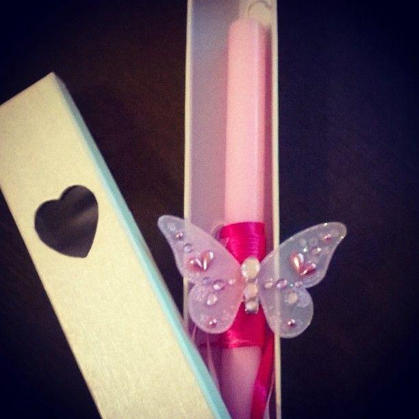 Pink Butterfly - Queen G Handmade Easter Candles