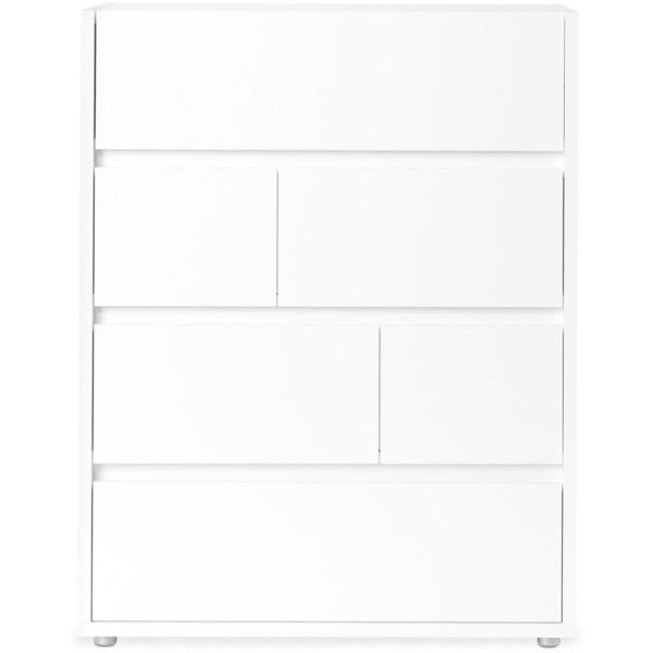 Tvilum Cicero Ready-to-Assemble 4-Drawer Chest (2.155 VEF) ❤ liked on Polyvore featuring home, furniture, storage & shelves, dressers, white, four drawer dresser, drawer dresser, white bedroom dresser, white four drawer dresser and 4 drawer dresser