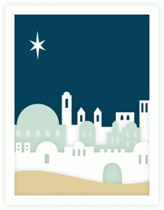 Silhouette Design Store - View Design #68744: bethlehem silhouette layered a2 card