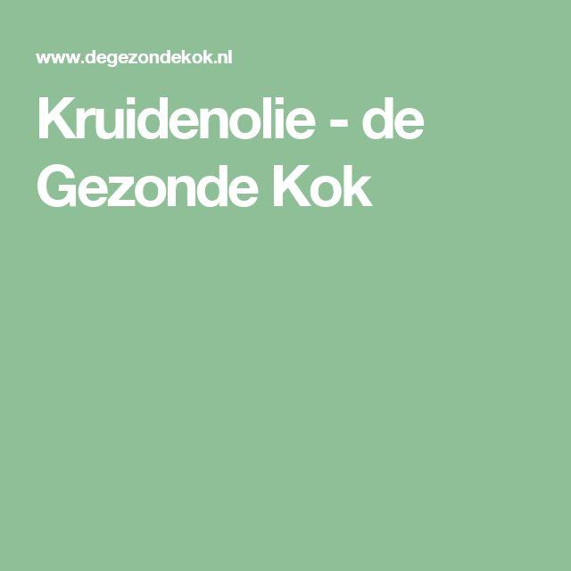Kruidenolie - de Gezonde Kok