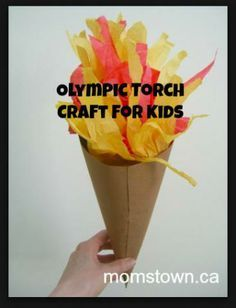 Olympic Torch craft for kids- easy way for kids to get in on the fun of the games! #olympics #crafts #kids