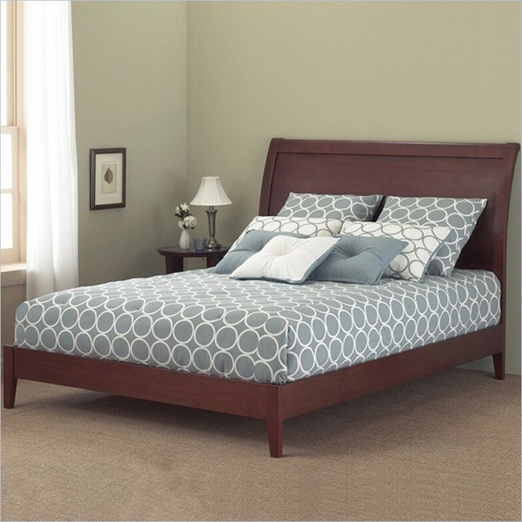 Fashion Bed Group Java Modern Platform Bed in Mahogany Finish-Full